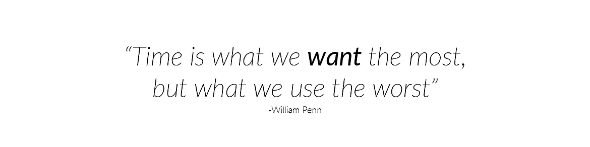 William Penn Time Quote