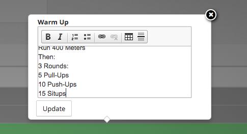 warmup-programming